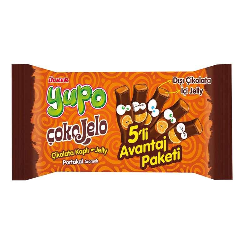 Ülker Yupo Çokojelo Yumuşak Şeker Çikolata Kaplı Portakallı 5*20 G