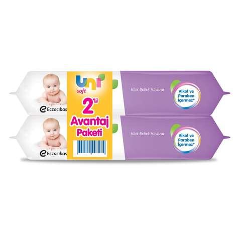 Uni Soft Islak Havlu 2x60 2x60'lı