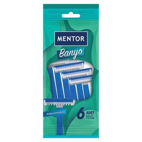 Mentor Tıraş Bıçağı Banyo 6'lı