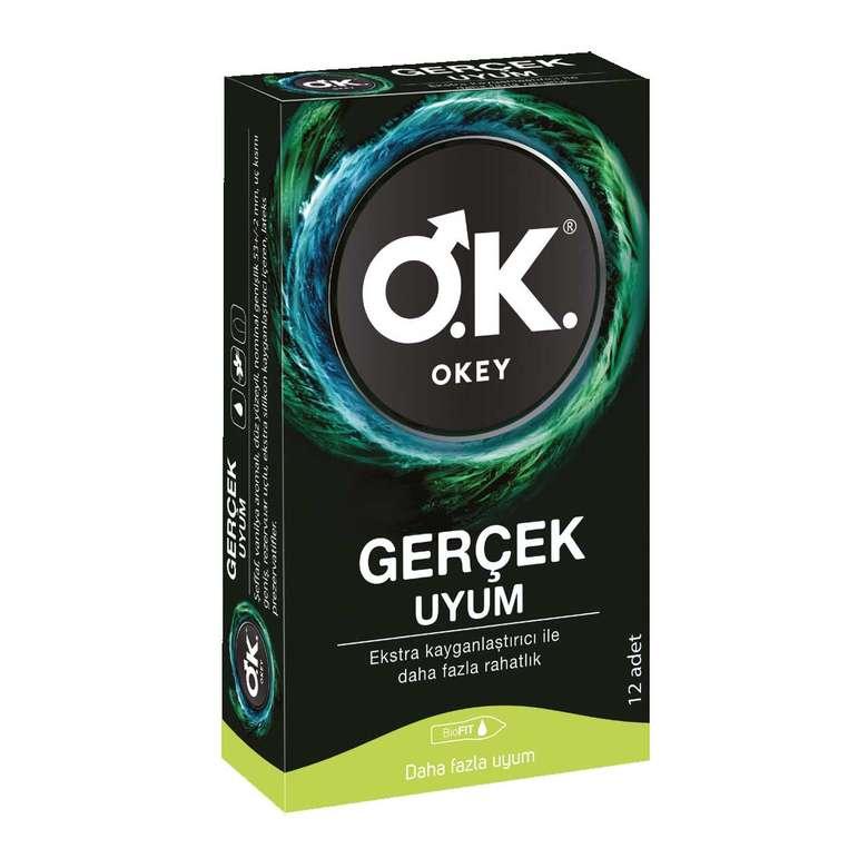 Okey Prezervatif Gerçek Uyum 12'li
