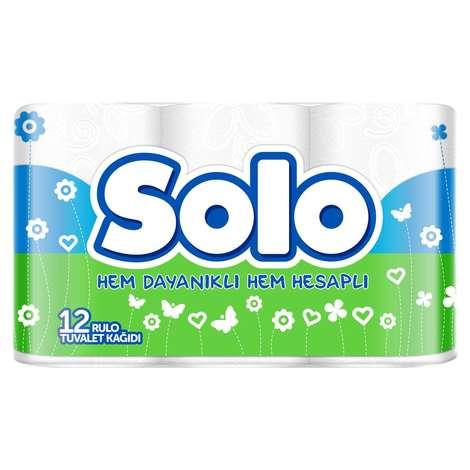 Solo Tuvalet Kağıdı 2 Katlı 12'li