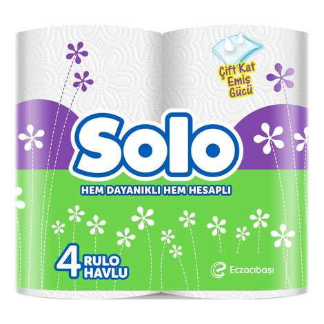 Solo Kağıt Havlu 2 Katlı 4'lü