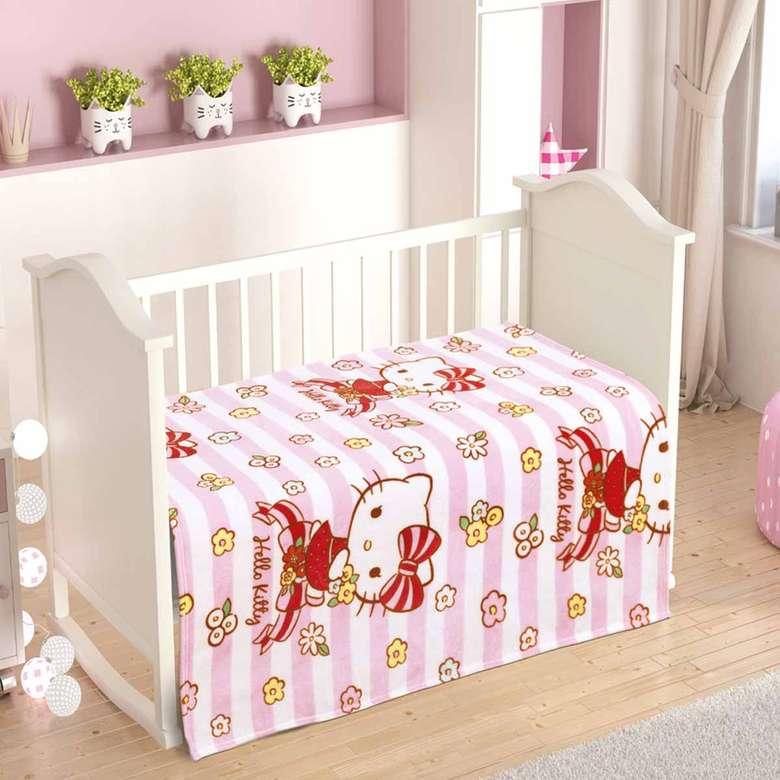 Lisanslı Polar Bebek Battaniyesi Hello Kitty (100X120)