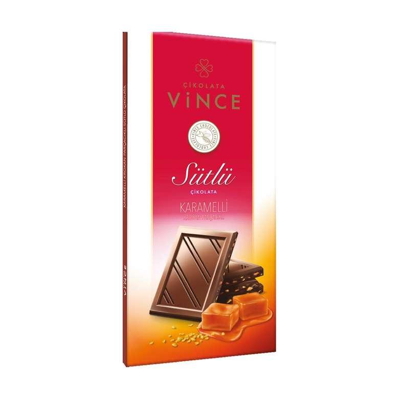 Vince Sütlü Çikolata  Karamel&Krokan Parçacıklı 50 G