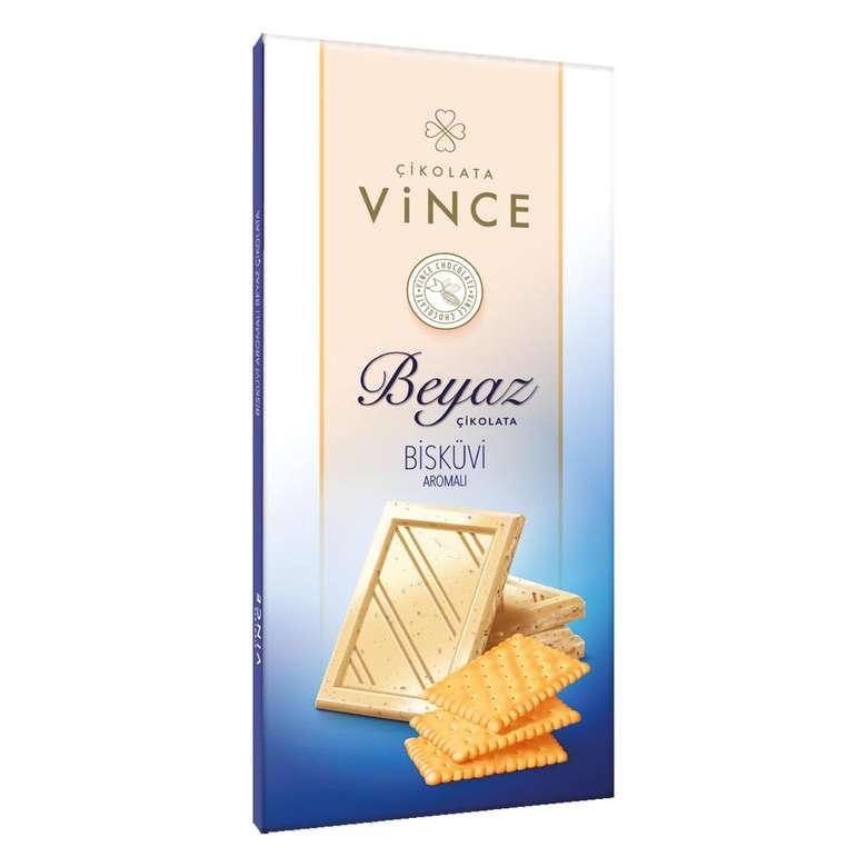 Vince Beyaz Çikolata Bisküvili 50 G