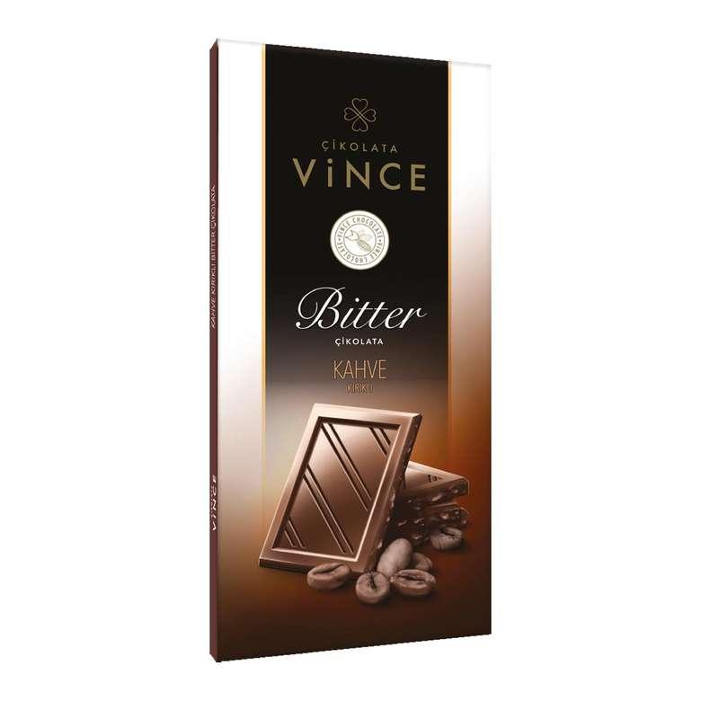 Vince Bitter Çikolata  Kahve Parçacıklı 50 G