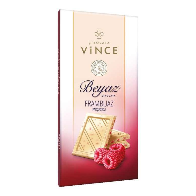 Vince Beyaz Çikolata Frambuaz Parçacıklı 50 G