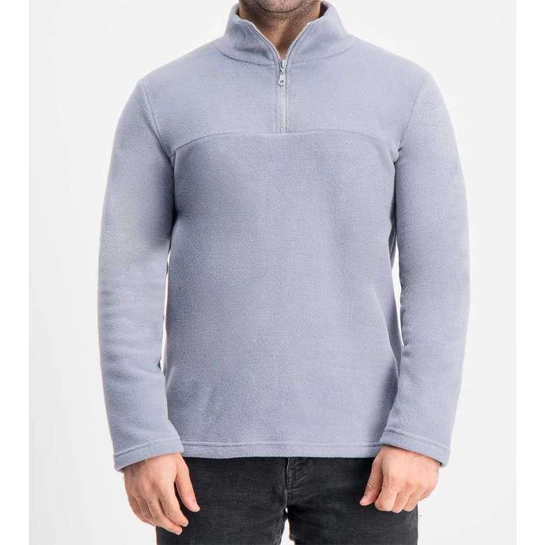 Silk&Blue Bay  Yarım Fermuar Polar Üst  Gri XL