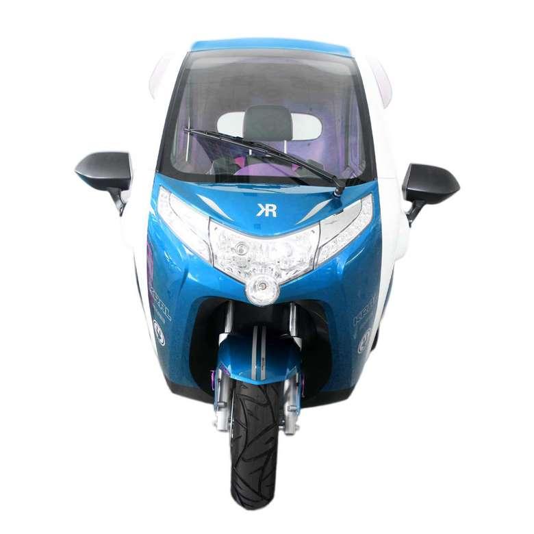 Elektrikli Araba Grande-6 - Mavi Beyaz