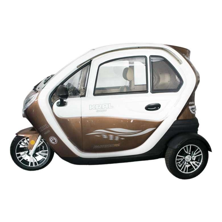 Elektrikli Araba Grande-5 - Kahve Beyaz