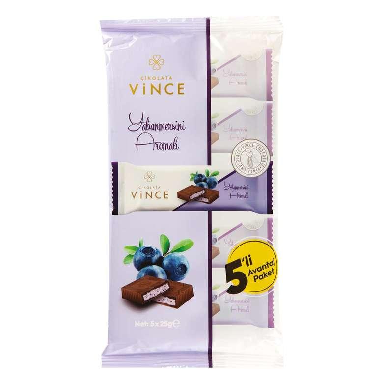 Vince Yaban Mersini Aromalı Dolgulu Çikolata  5*25 G