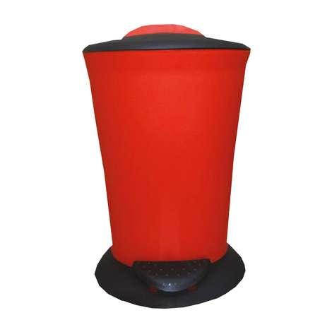 Pedallı Çöp Kovası 6 Lt - Kırmızı