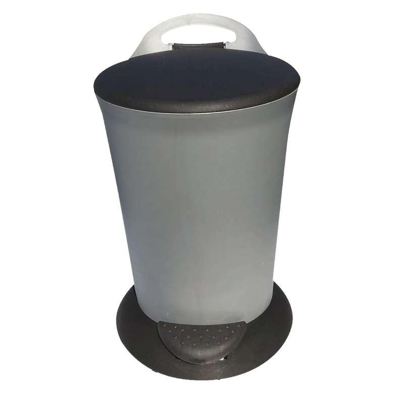 Pedallı Çöp Kovası 6 Lt - Gri