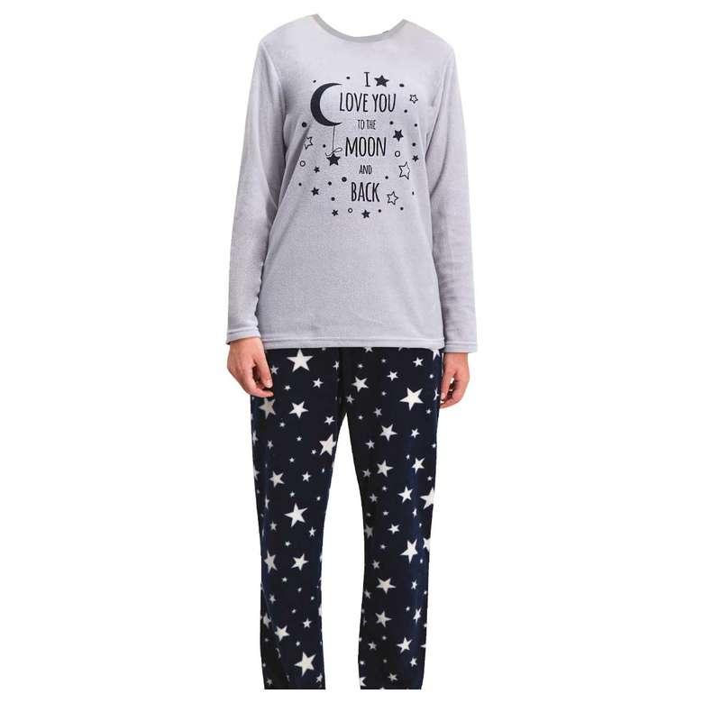 Silk&Blue Kadın Polar Pijama Takımı - Gri M