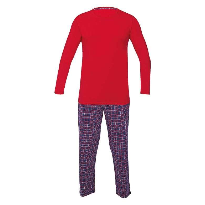 Silk & Blue Erkek Uzun Kollu Supreme Pijama Takımı - Bordo L