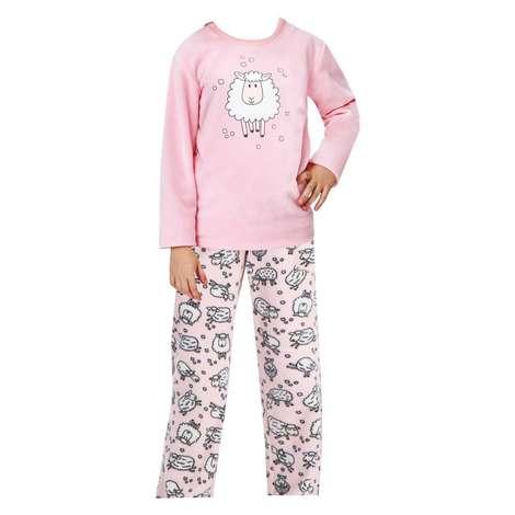 Silk&Blue Çocuk Polar Pijama Takımı - Pembe 5-6 Yaş