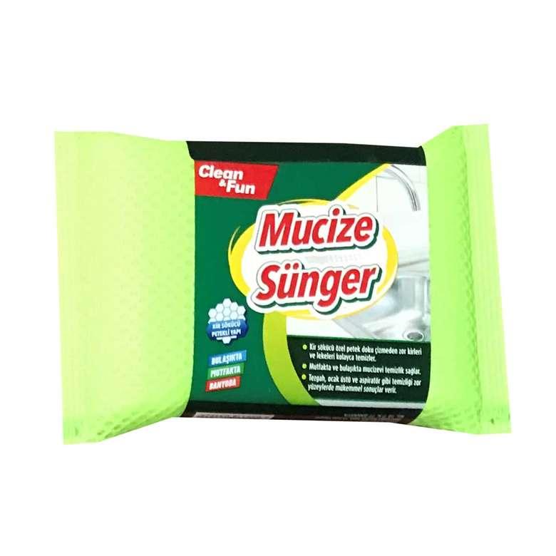 Clean&Fun Mucize Bulaşık Süngeri - Yeşil
