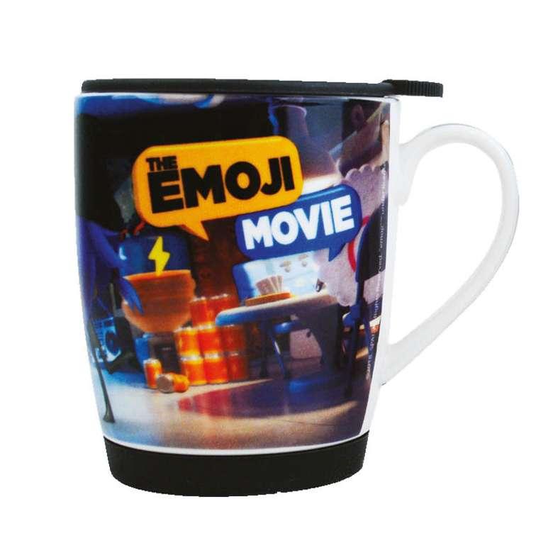 Porselen Kupa Emoji Kapaklı - Siyah
