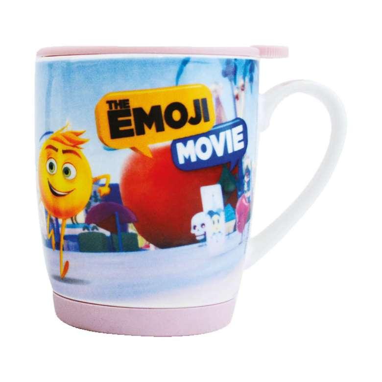 Porselen Kupa Emoji Kapaklı - Mavi