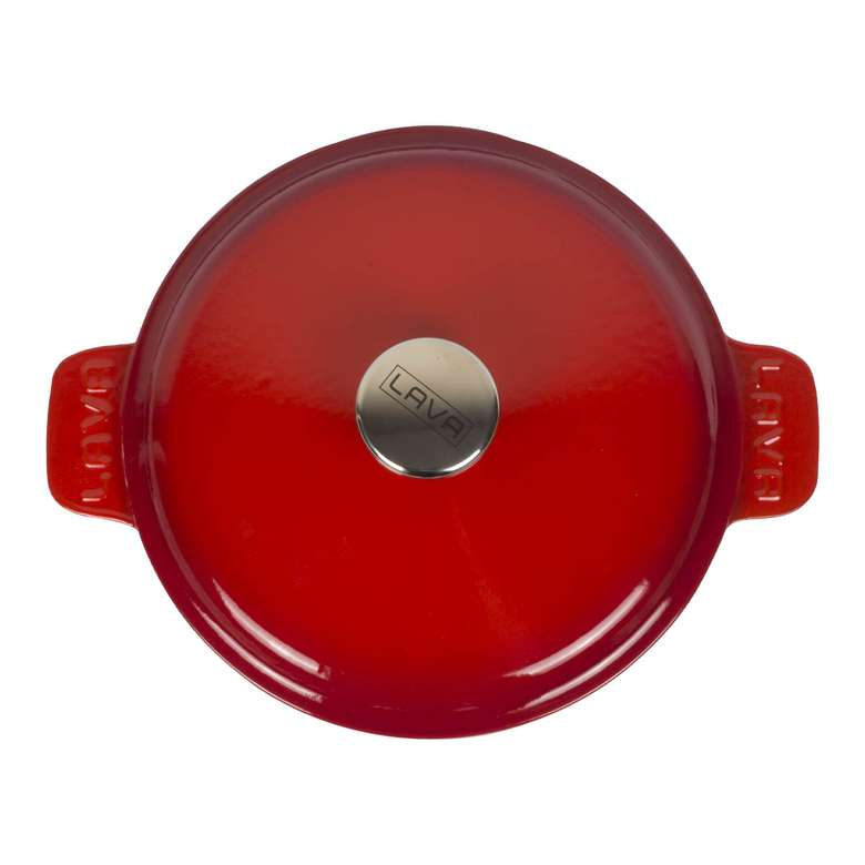 Lava Döküm Tencere Kırmızı 26 Cm