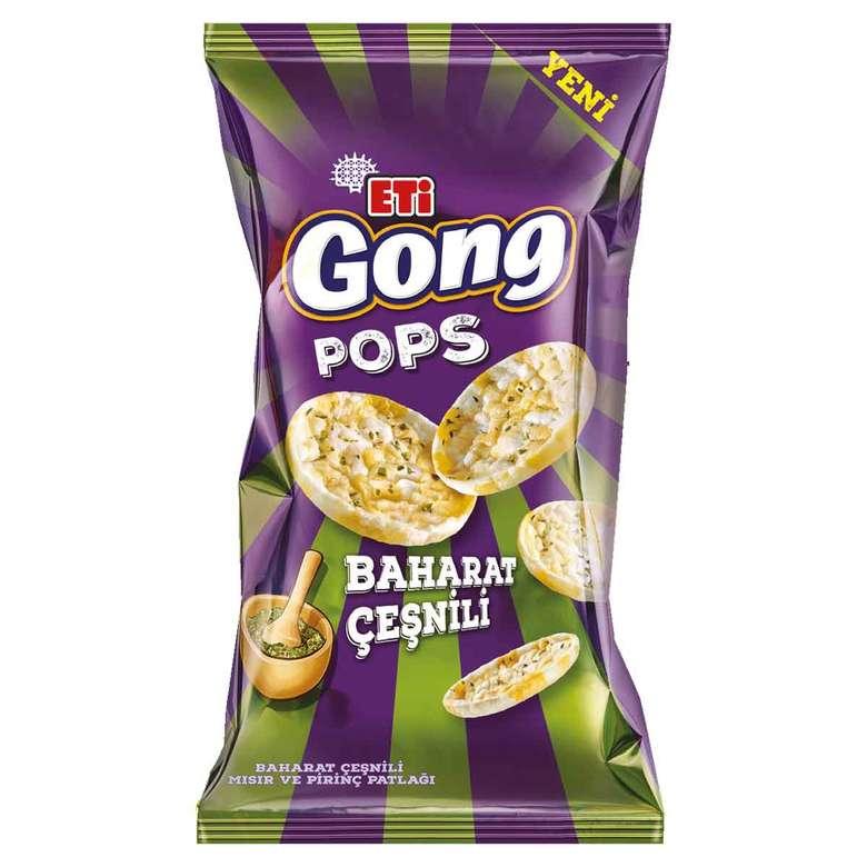Eti Gong Pops Mısır&Pirinç Patlağı Baharat Çeşnili 80g