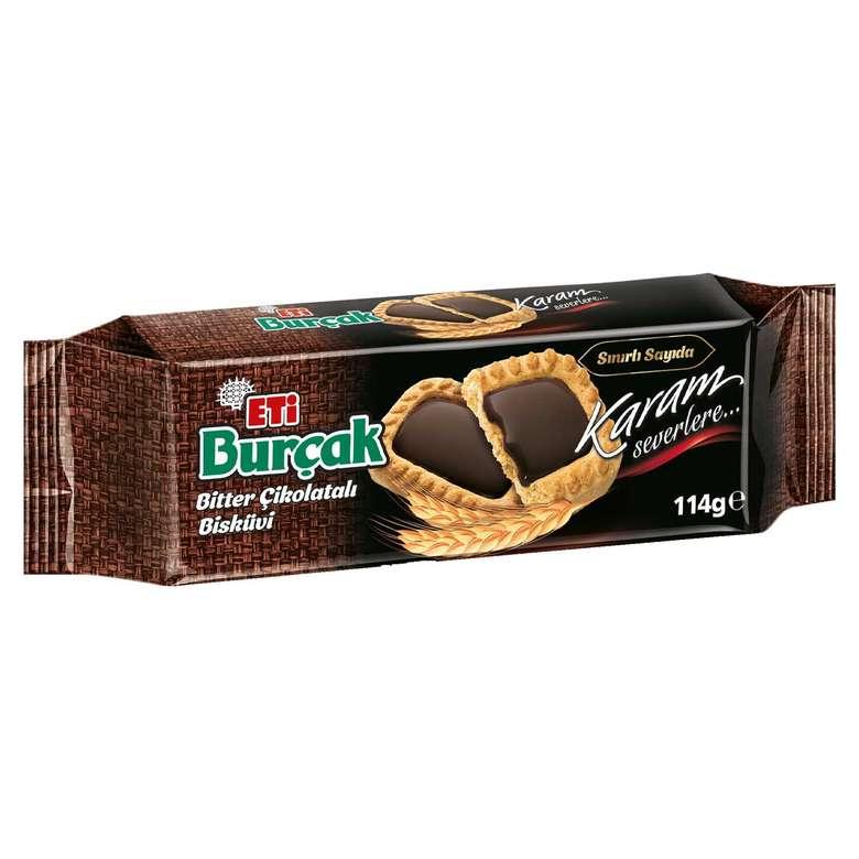 Eti Burçak Bisküvi Bitter Çikolatalı 114g