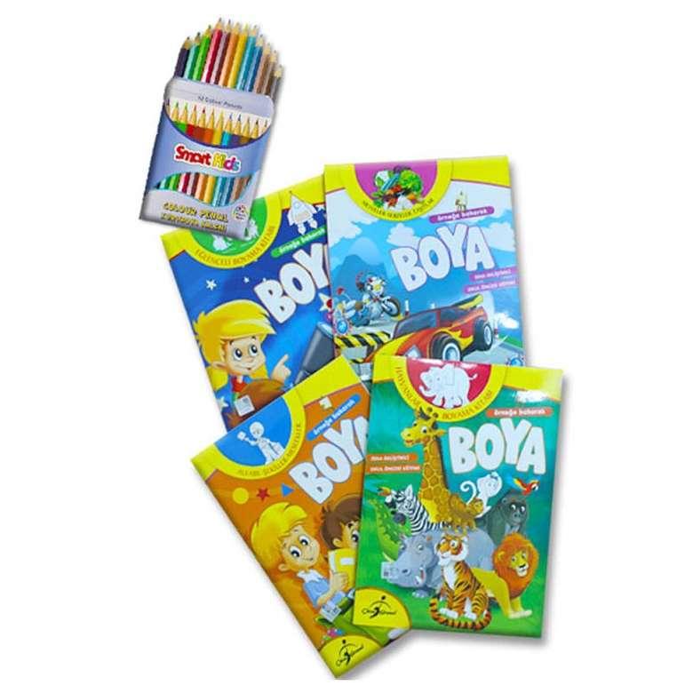Ornege Bakarak Boya Okul Oncesi Boyama Seti 1 4 Kitap A101