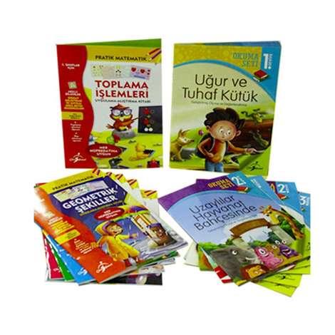 1. Sınıflar İçin İlk Okuma Seti Ve Pratik Matematik Serisi - 12 Kitap