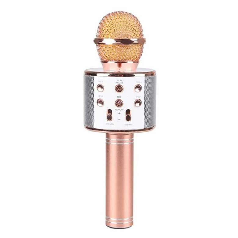 Piranha Karaoke Mikrofon - Pembe