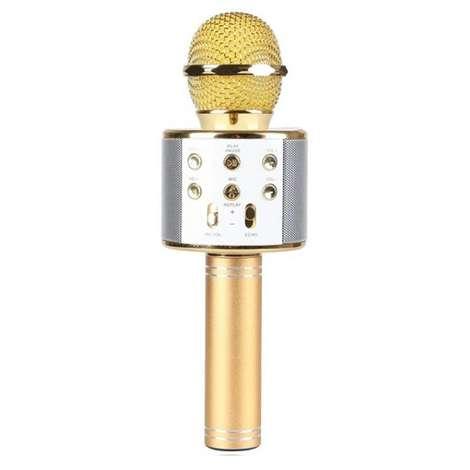 Piranha Karaoke Mikrofon - Sarı