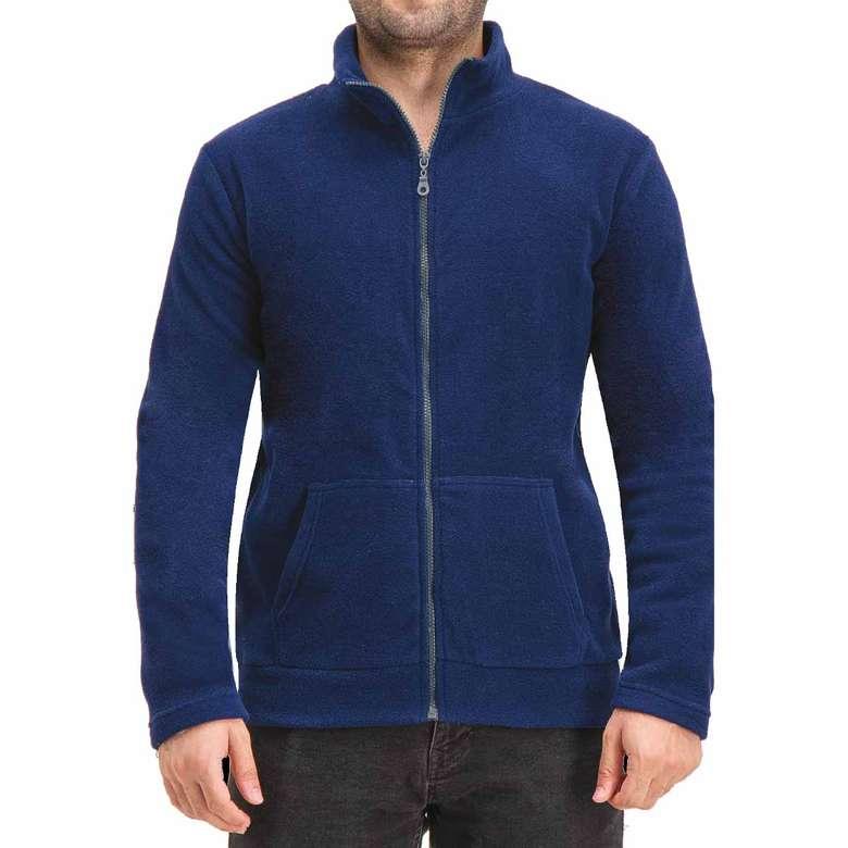 Silk&Blue Erkek Tam Fermuarlı Polar Üst - Lacivert XL