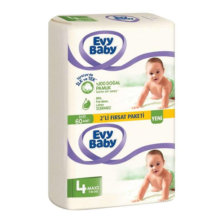 Evy Baby Bebek Bezi Maxı 2'li Paket 60'lı