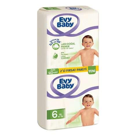 Evy Baby Bebek Bezi XL 2li Paket 40'lı