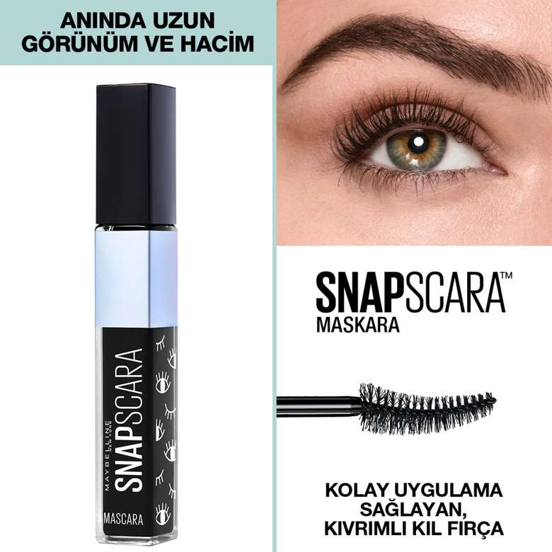 Maybelline New York Snapscara Pitch Black Maskara  -30168121
