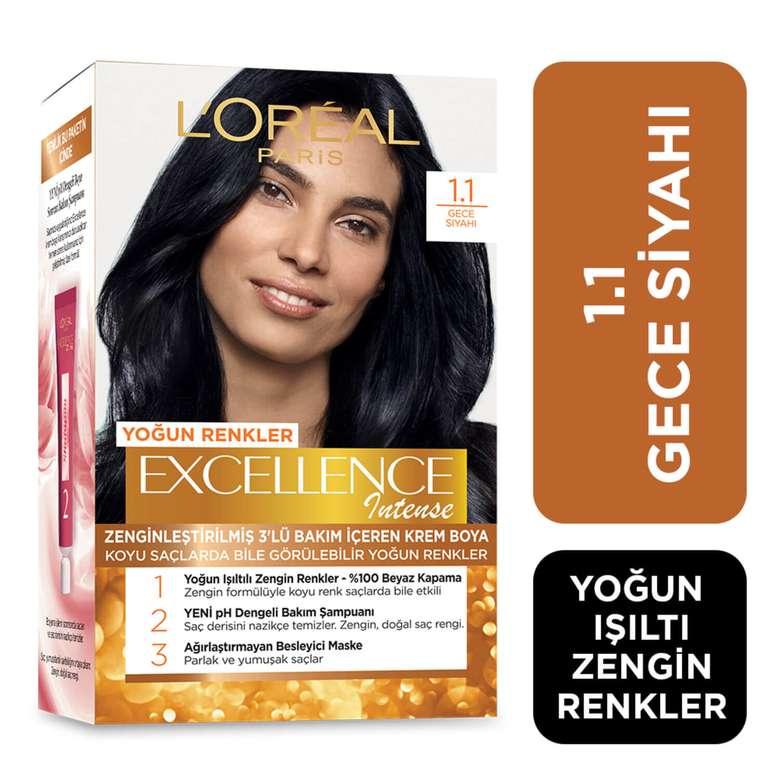 L'oreal Excellence Saç Boyası Yoğun Siyah 1.1