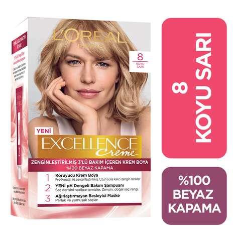 L'oreal Paris Excellence Koyu Sarı 8 Saç Boyası