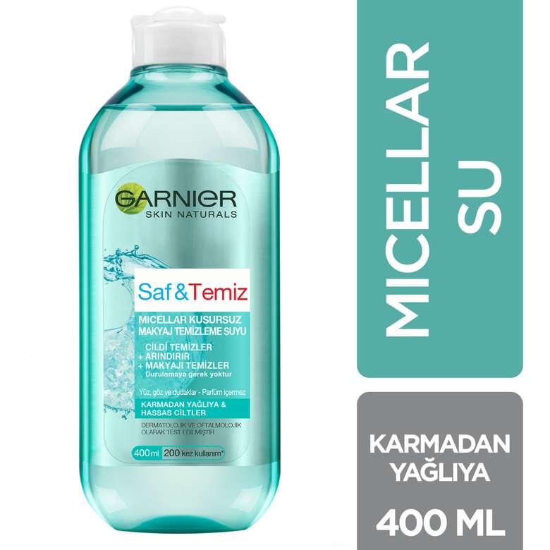 Garnier Saf&Temiz Kusursuz Makyaj Temizleme Suyu 400 ml
