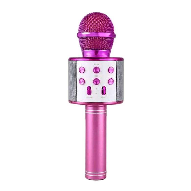 Intum Karaoke Bluetooth Mikrofon - Pembe