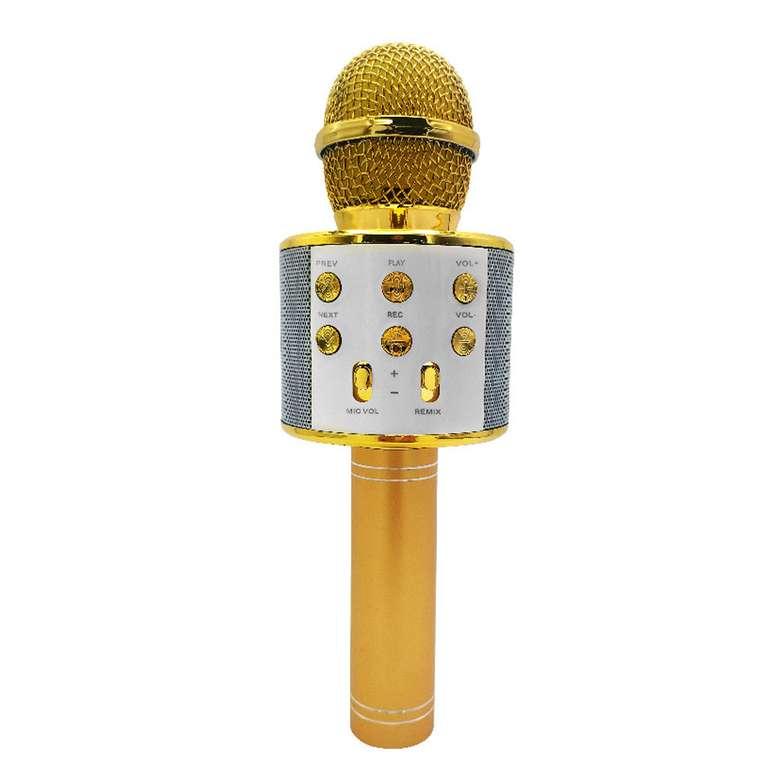 Intum Karaoke Bluetooth Mikrofon - Sarı