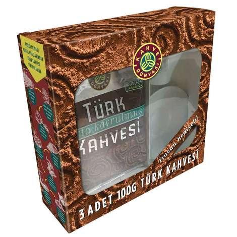 Kahve Dünyası Türk Kahvesi Fincan Hediyeli 3*100 G