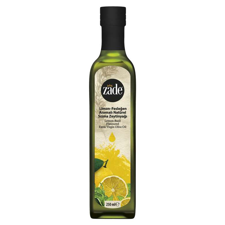 Zade Limon Fesleğen Aromalı Sızma Zeytinyağı 250 Ml