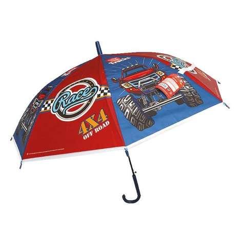 Lisanslı Çocuk Şemsiyesi - Off Road Cars