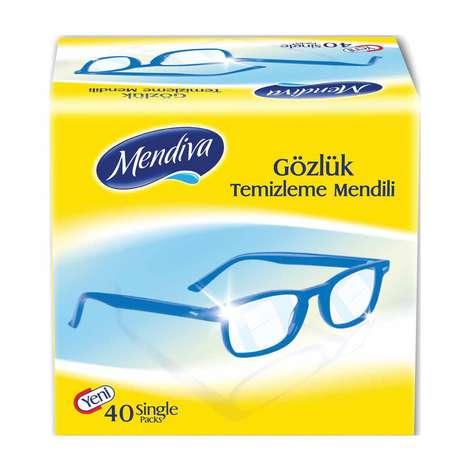 Mendiva Gözlük Temizleme Mendili 40'lı