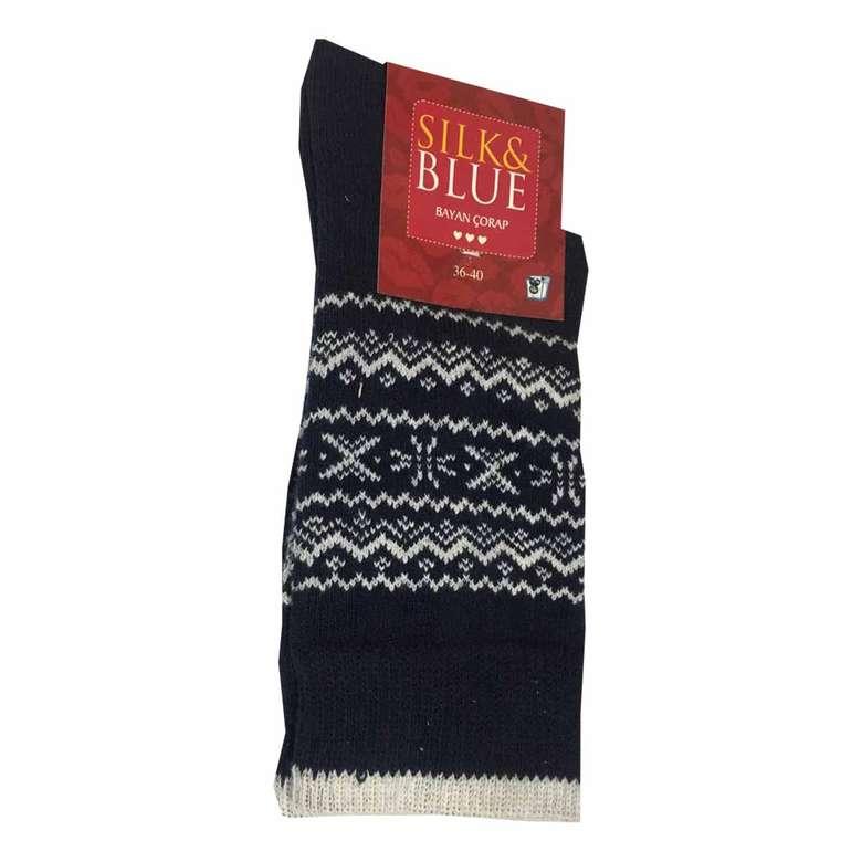 Sılk&blue Bayan Soket Çorap Motifli Sılk&blue