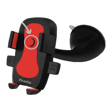 Piranha Araç İçi Telefon Tutucu 5418 - Kırmızı