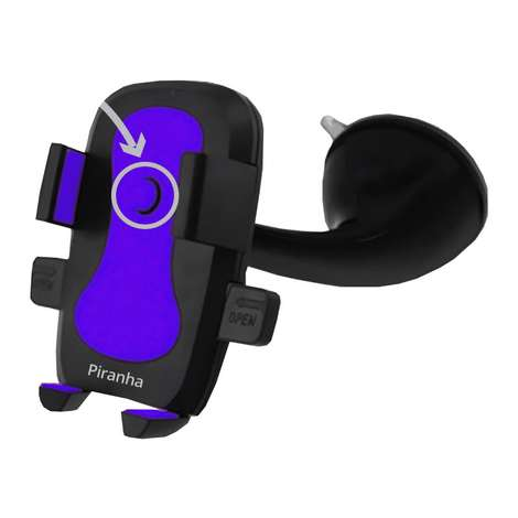Piranha Araç İçi Telefon Tutucu 5418 - Mavi