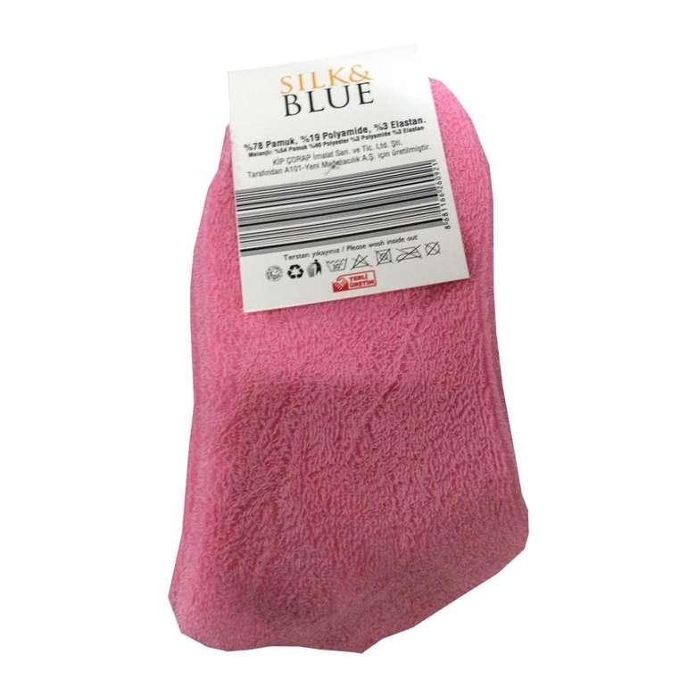 Silk & Blue Ters Havlu Kadın Patik Çorap