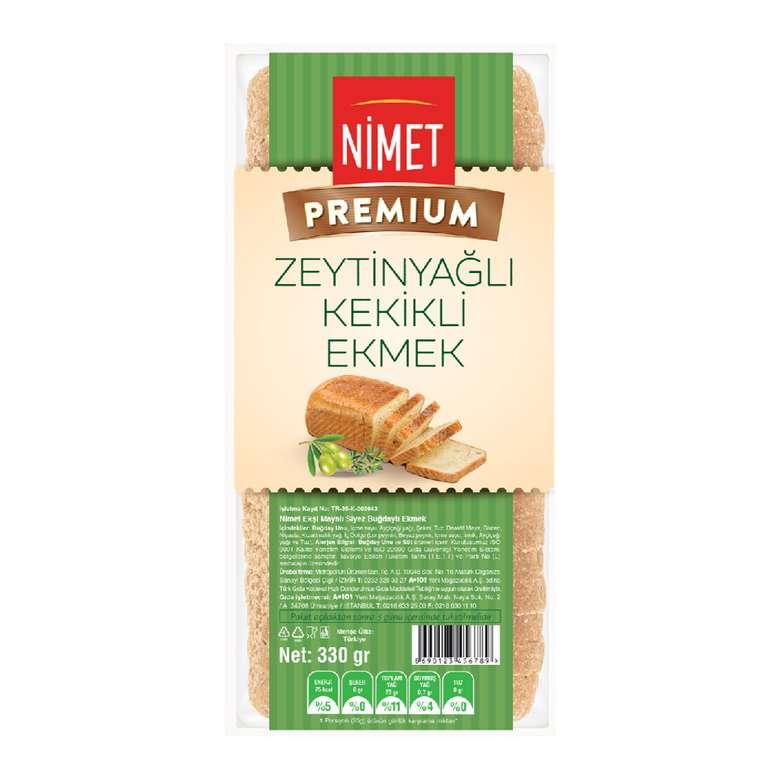 Nimet Premium  Zeytinyağlı Kekikli  Ekmek 330 gr