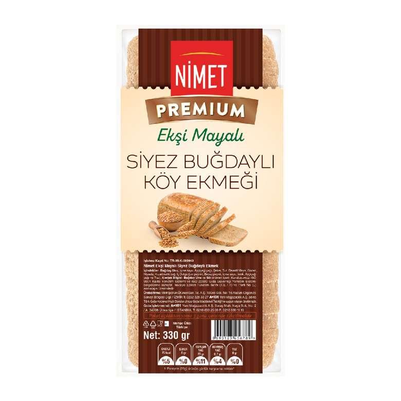 Nimet Premium Ekşi Mayalı Siyez Buğdaylı Köy Ekmeği  330 gr