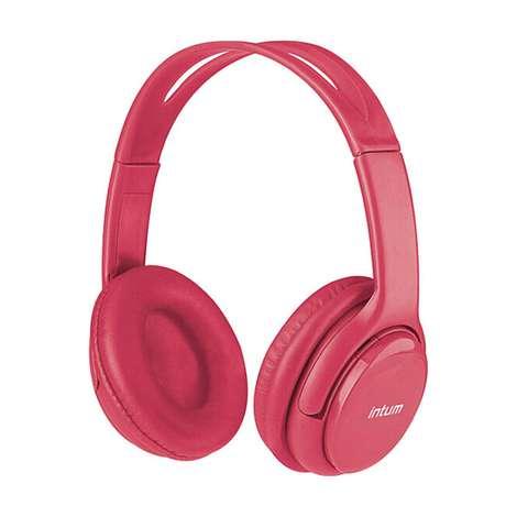 Intum Bluetooth Kulaküstü Kulaklık - Pembe